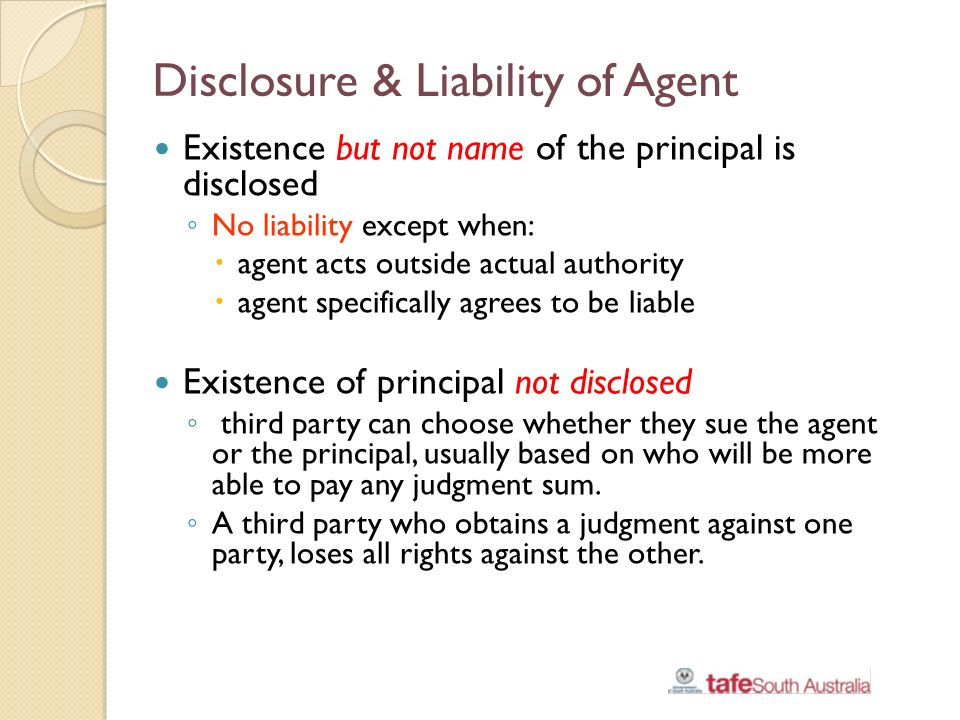 liabilities and principals of agents authorized Principal and agent: liability of principal for acts  agent of a detective agency, authorized to obtain a confession, in executing his authority, committed an.