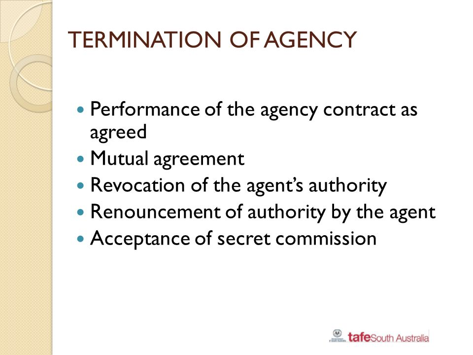 Example 1: Sample letter for Termination of Agency Contract