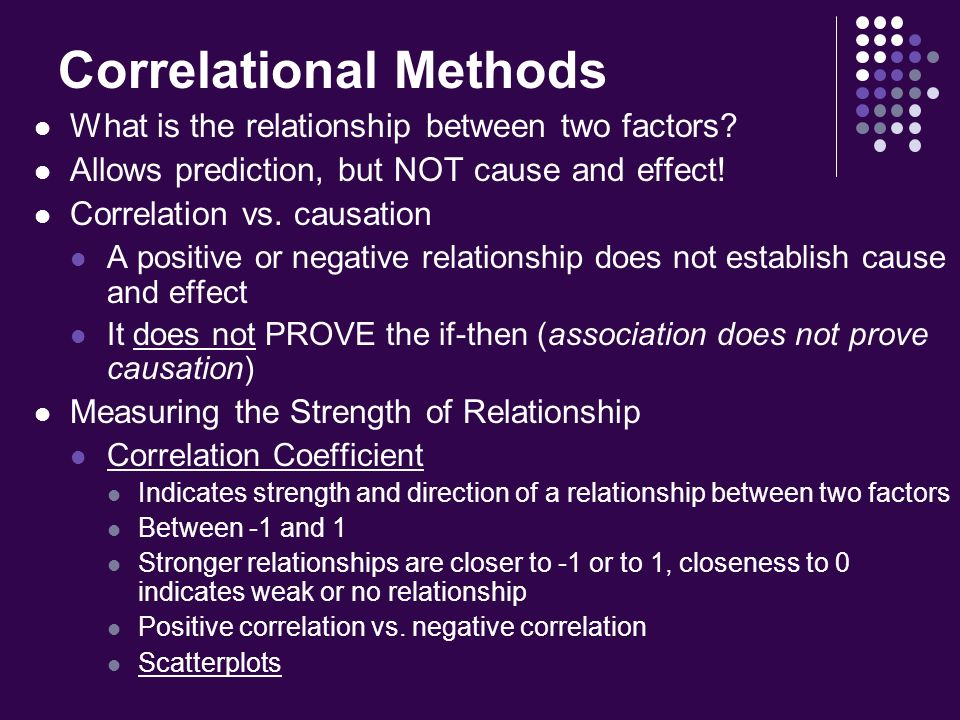 define cause and effect relationship psychology