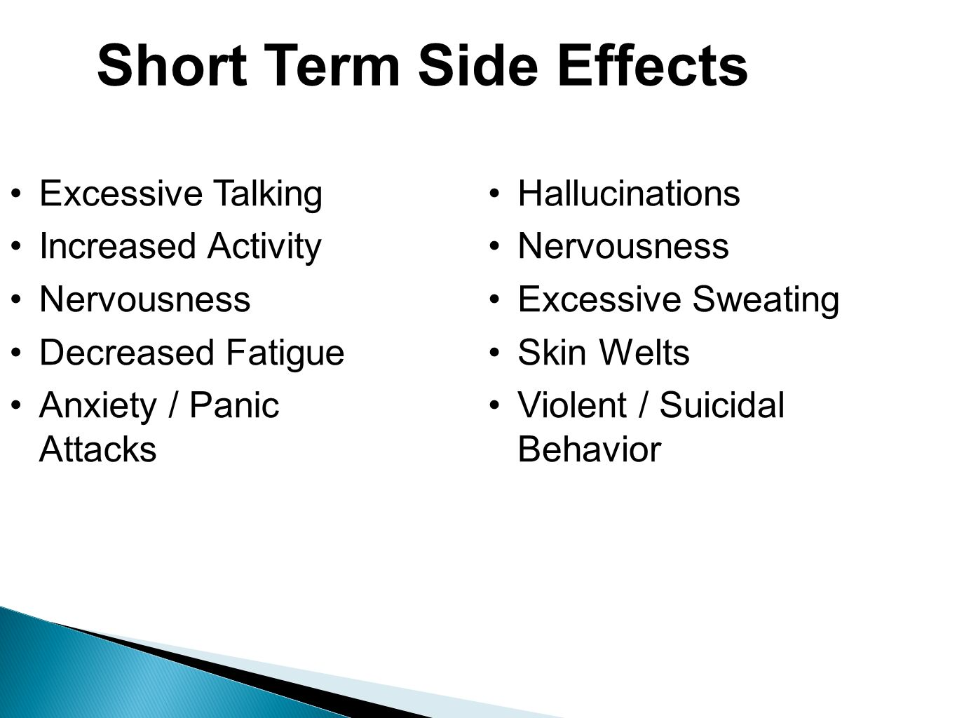 Short Term Effects : Cns stimulants substane of abuse phg ppt download
