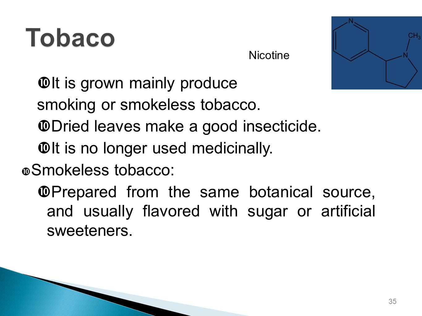 how to make a nicotine insecticide Using tobacco and nicotine as an insecticide  enough to make even me, a person with high nicotine tolerance and ample experience with the chemical,.