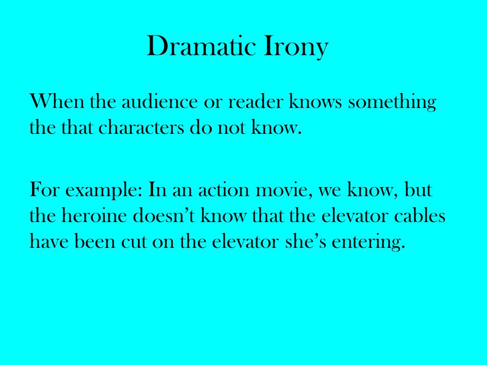 Dramatic Irony Examples In Movies | www.pixshark.com ...