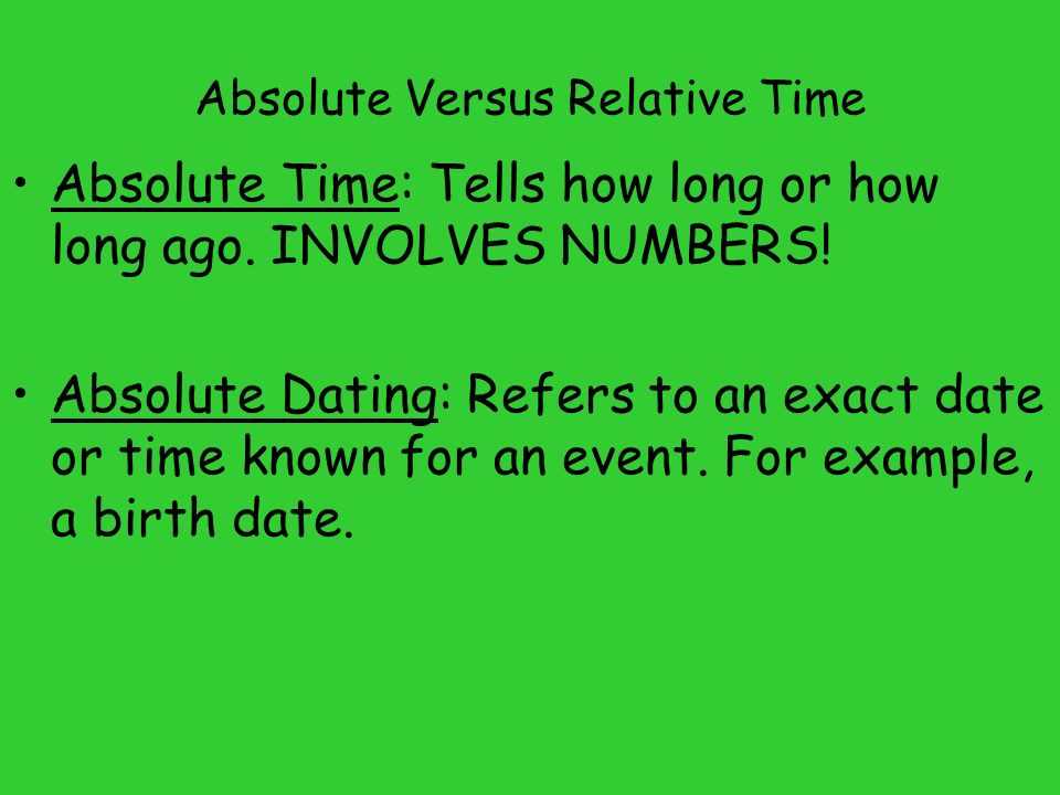 Relative Dating and Absolute Dating by Adam Carmichael on Prezi