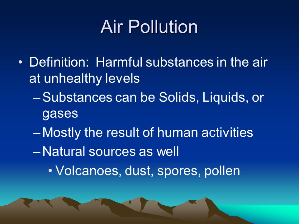 an analysis of the environmental air pollution The statement broke from the country's longstanding policy of putting economic growth over environment american air pollution analysis of the.