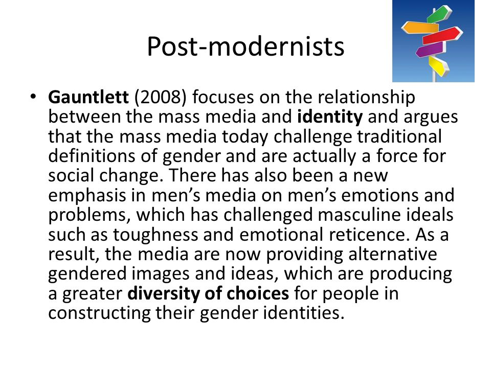assess the postmodernist views of the mass media essay