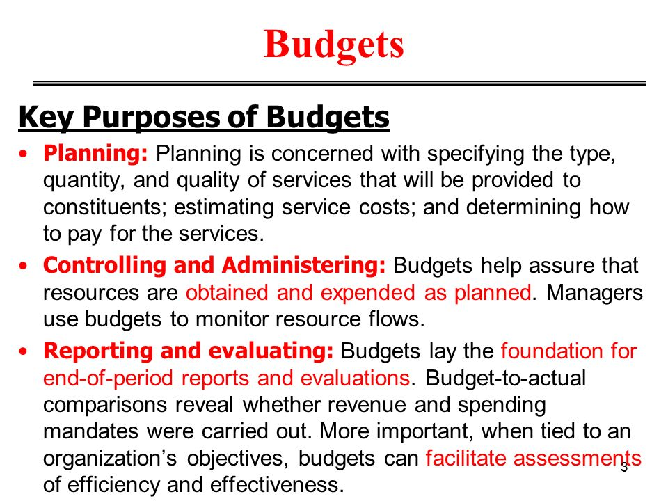 budgeting can be an important management An important part of staying on budget is to make sure all team members are aware of the current budget status as well keep the project team informed of the project budget forecast.