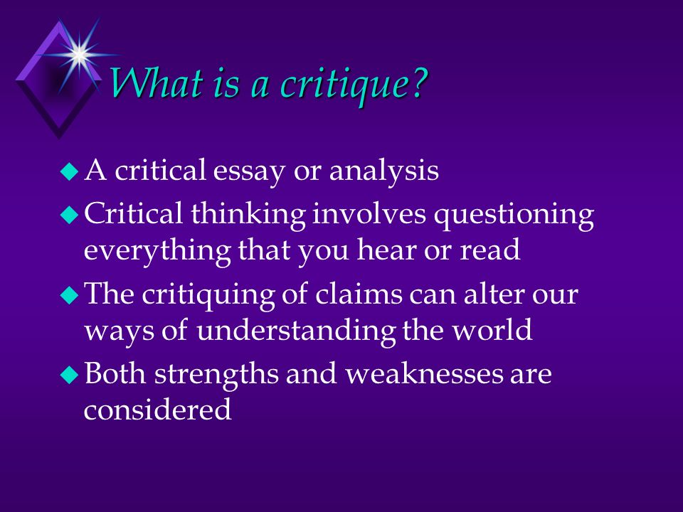 Critical analysis including important terminology and ques