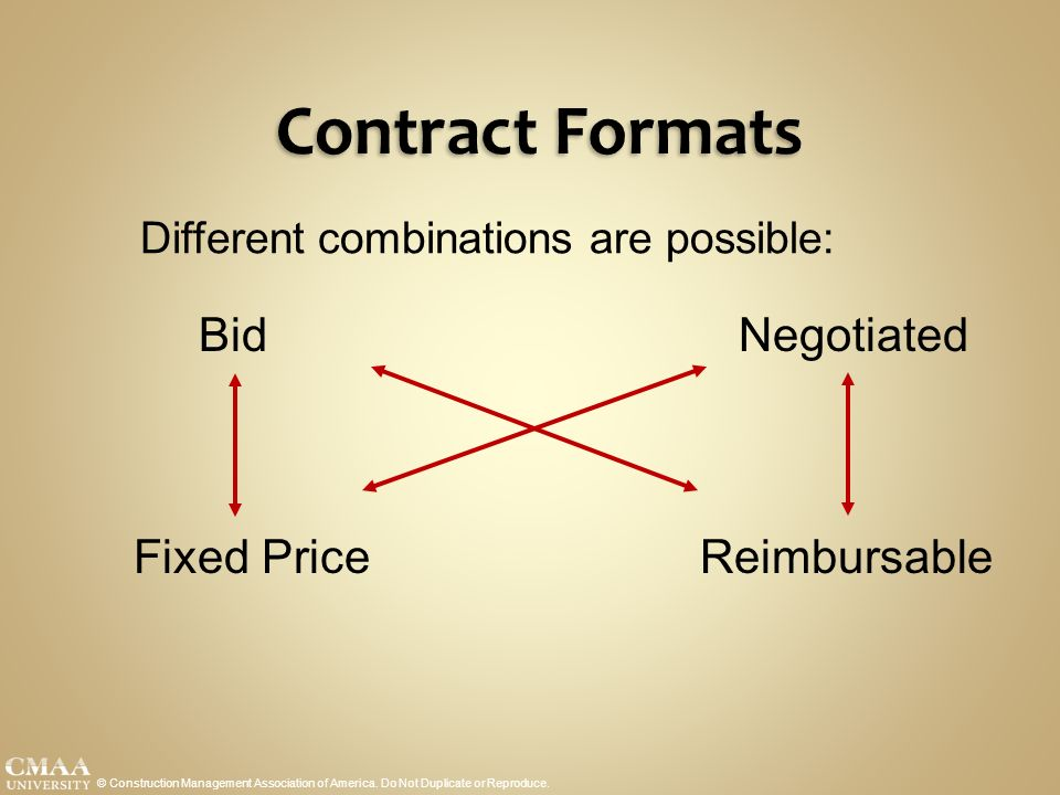 Standards of practice course ppt download for Fixed price construction contract