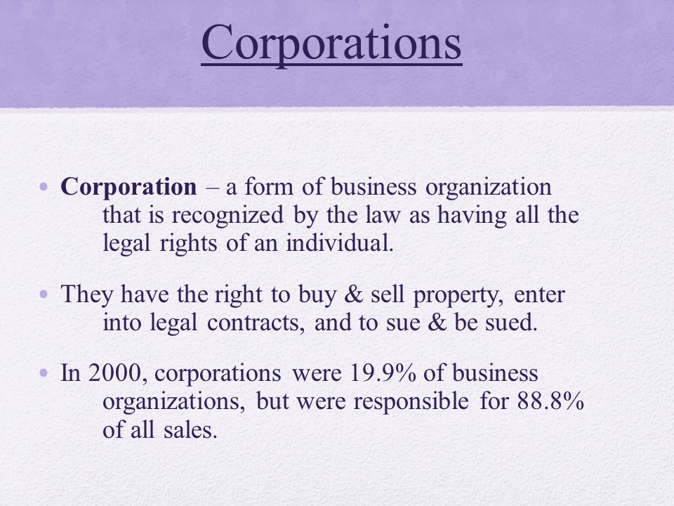 Business Organizations - ppt download