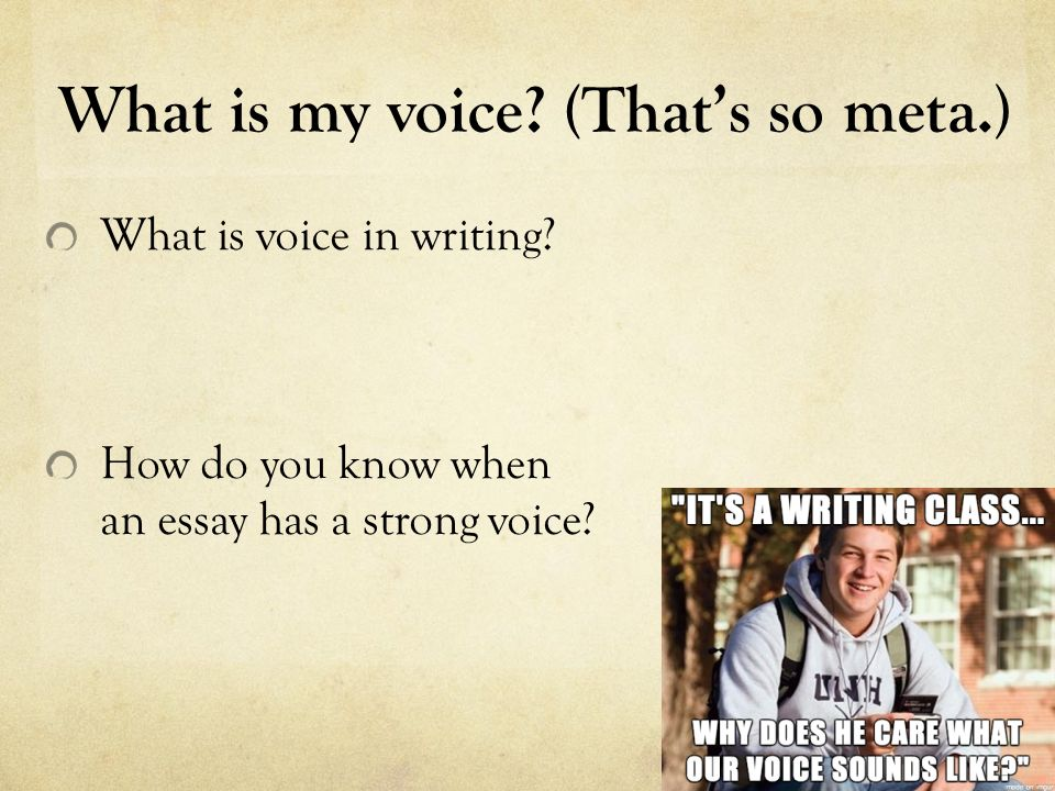 how to add voice to writing