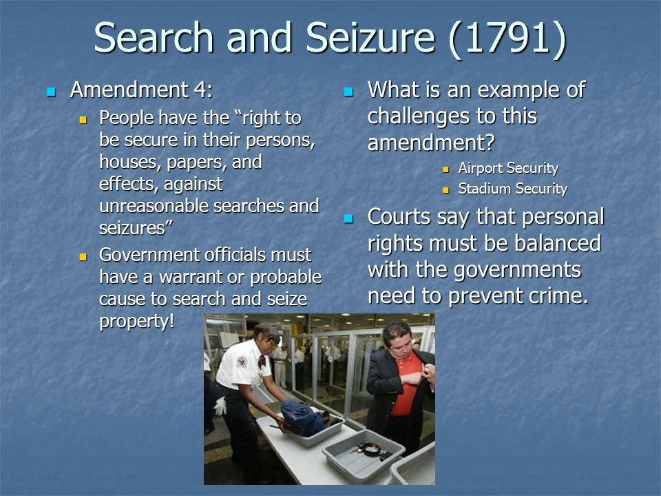 Amendment IV - The United States Constitution
