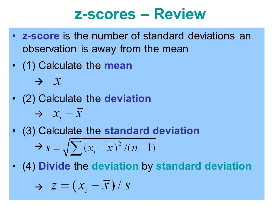 Skewness kurtosis reference ppt video online download z scores review z score is the number of standard deviations an observation ccuart Image collections