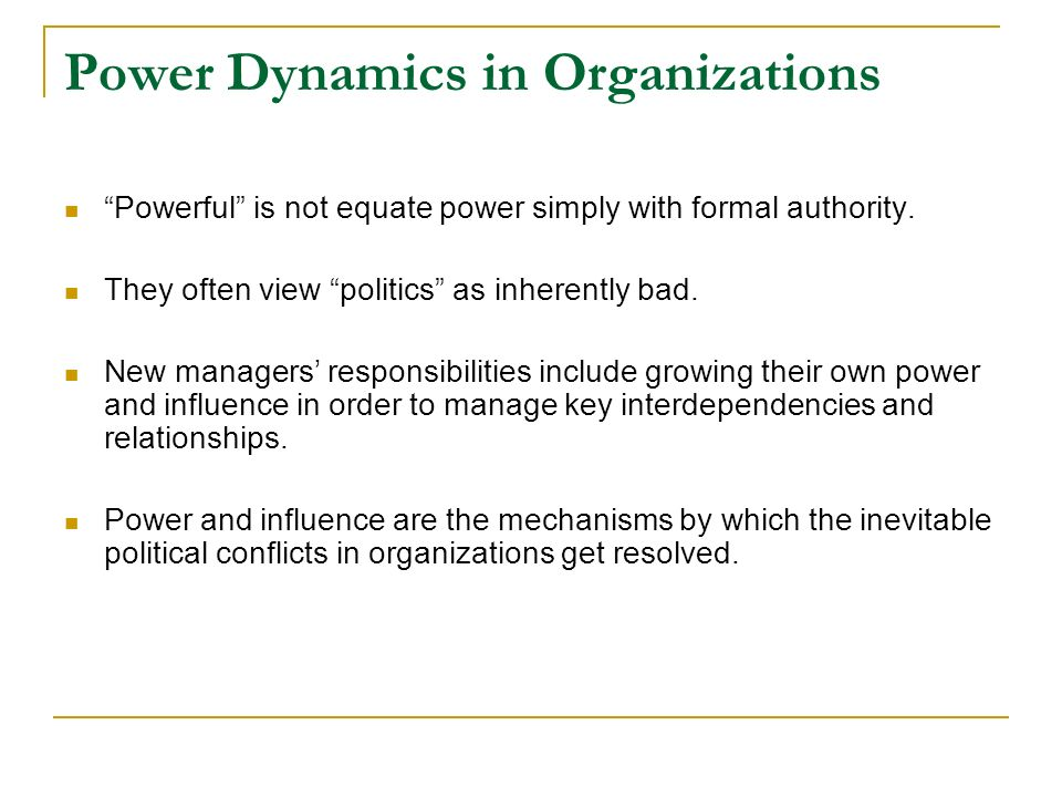 relationship between power politics and influence Extending influence beyond the chain of command: understanding the relationship between power and influence tactics submitted in fulfillment for the requirements for the.