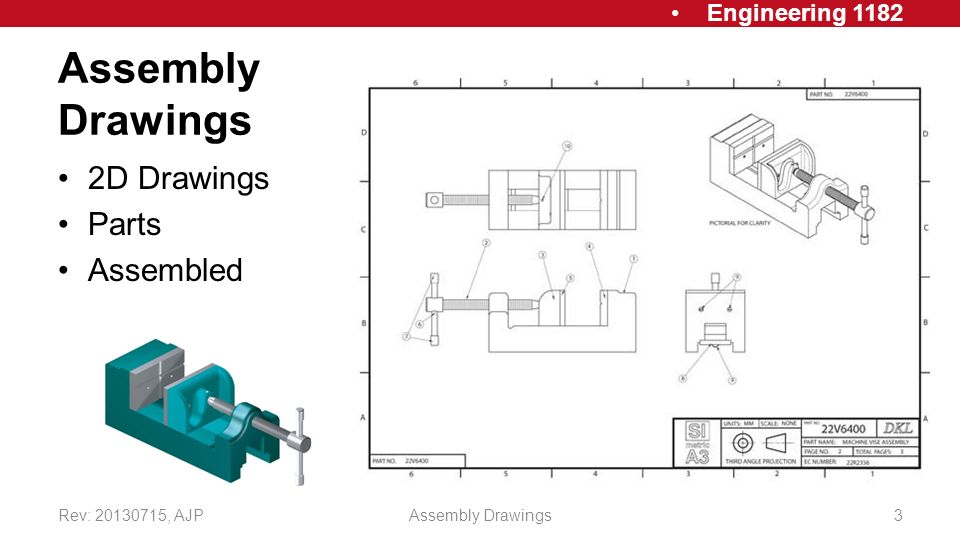 Working Assembly Drawings Ppt Video Online Download