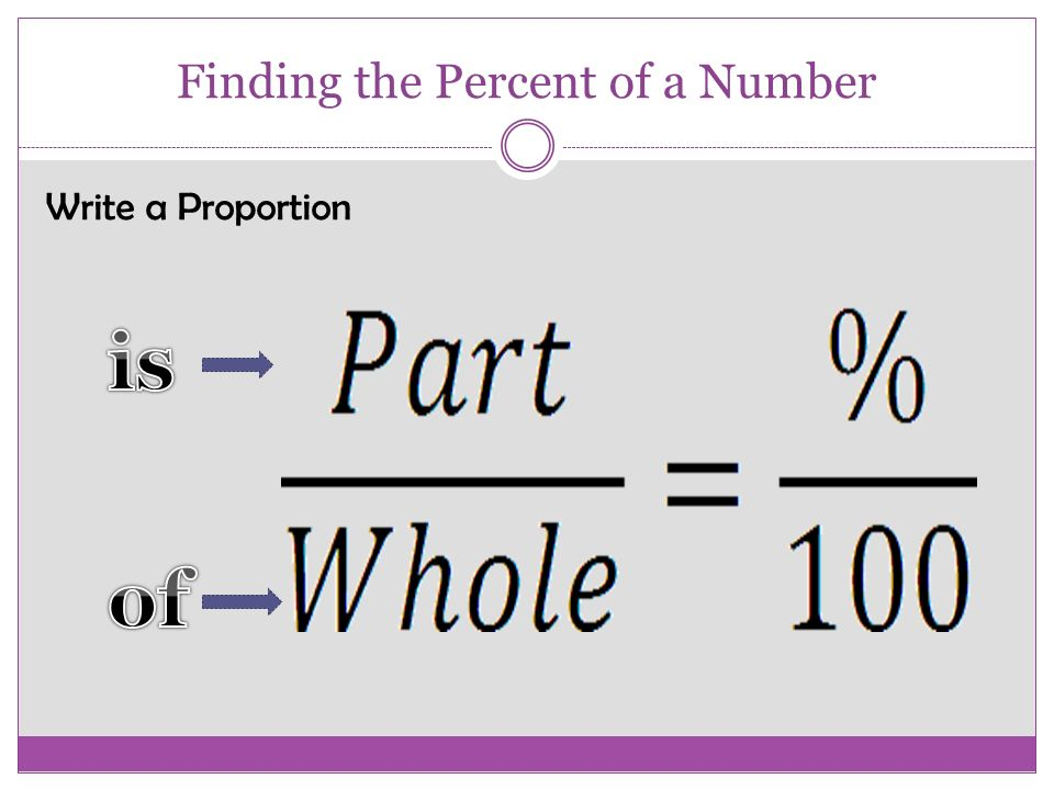 how to find 3 percent of a number