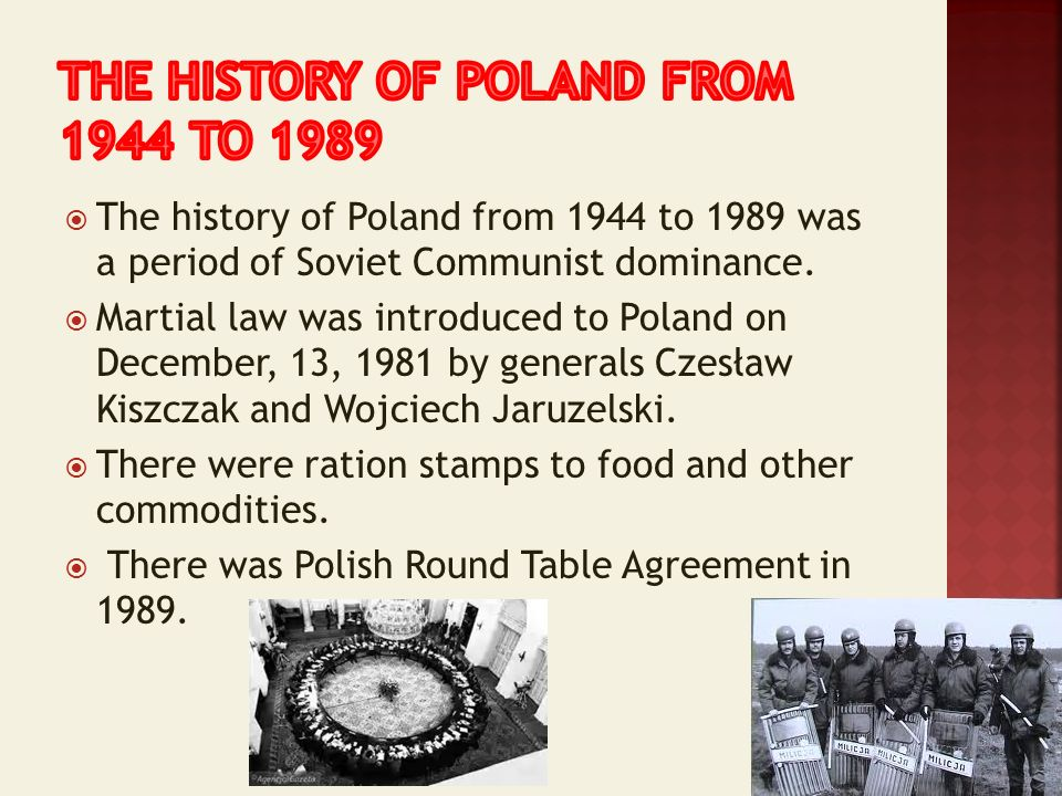 The history of poland from 1944 to 1989