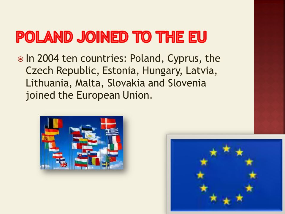 Poland joined to the eu