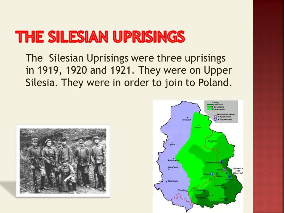 The SILESIAN UPRISINGS