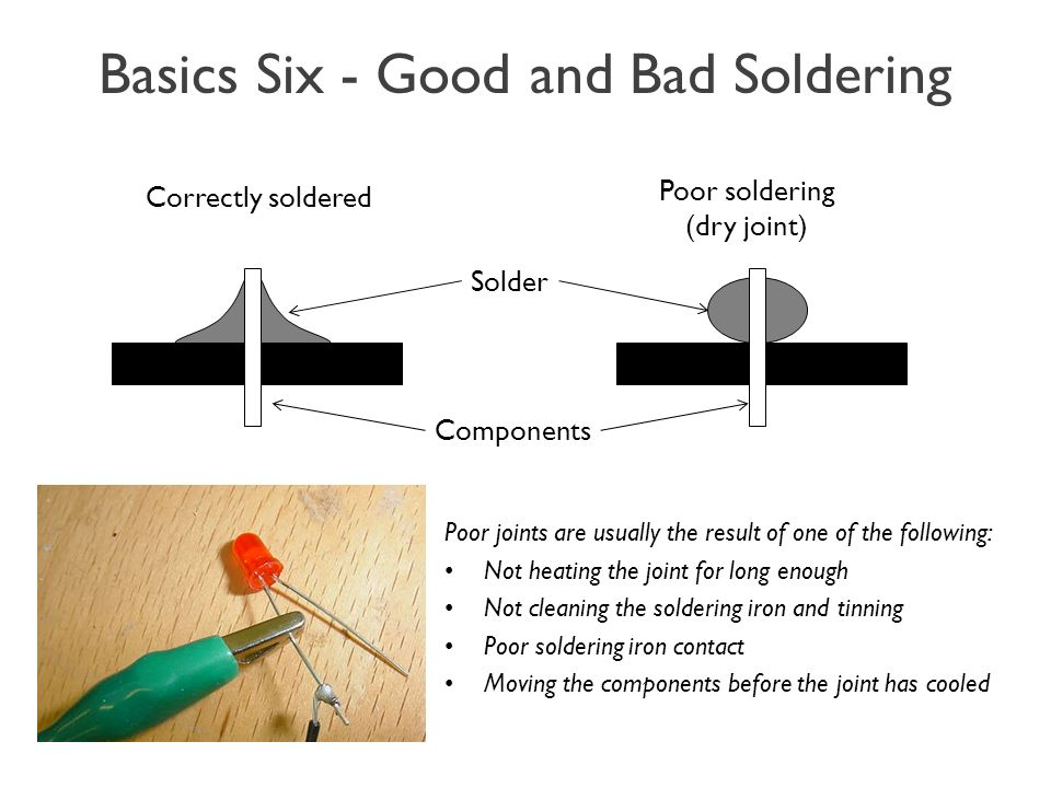 Basics+Six+ +Good+and+Bad+Soldering introduction to soldering ppt video online download wiring diagram for soldering iron at n-0.co