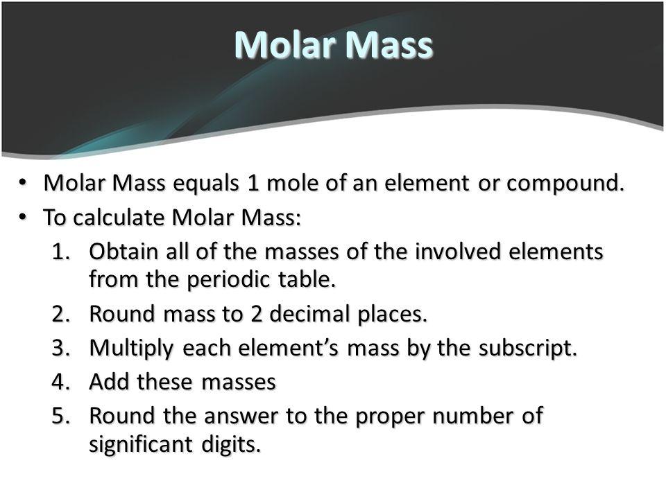 Chemical quantities avogadros number ppt download 10 molar urtaz Images