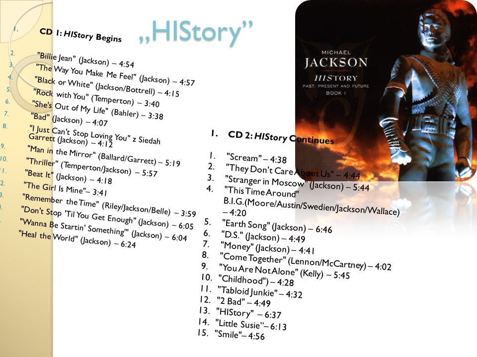 """HIStory CD 2: HIStory Continues Scream – 4:38"