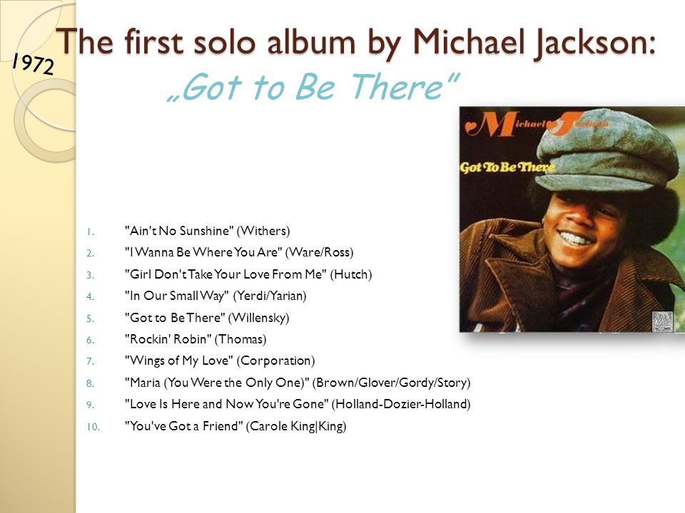 The first solo album by Michael Jackson: