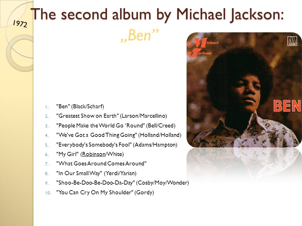 The second album by Michael Jackson: