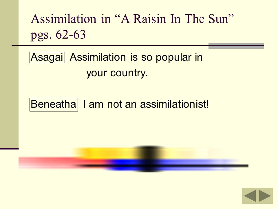 assimilation essay raisin sun A raisin in the sun help plz please answer for me, i a raisin in the sun - assimilation essay ideas plz help more questions.