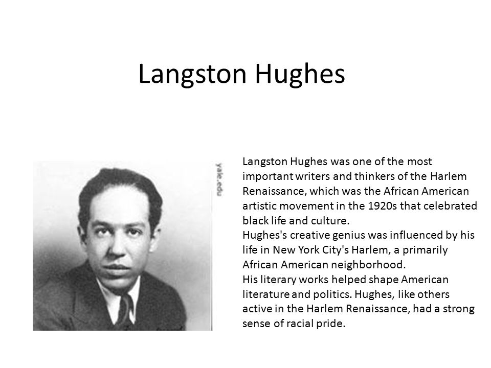 an analysis of langston hughess outsider view on the issues of african american people in his poetry Dreams, and racial injustices of african american people langston hughes was analysis hughes langston langston hughes and his poetry.