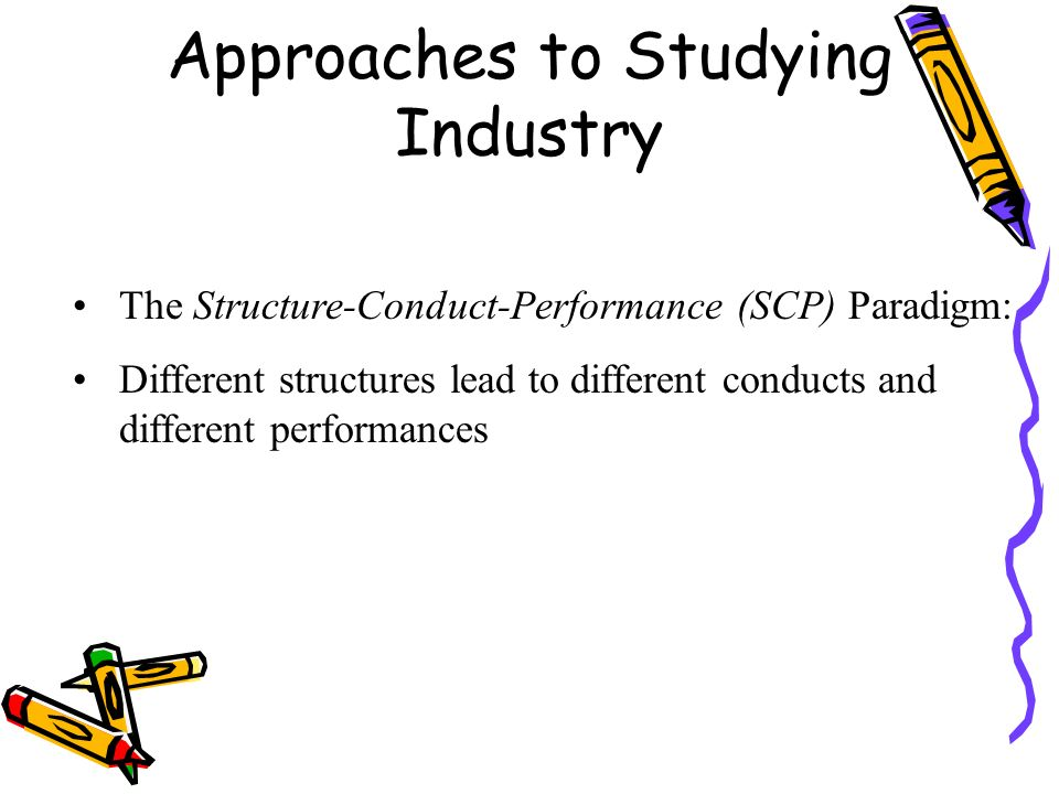scp paradigm This paper presents a market structure, conduct, performance model (scp) of industrial economics to  bain's early paradigm (1951, 1956) has been.