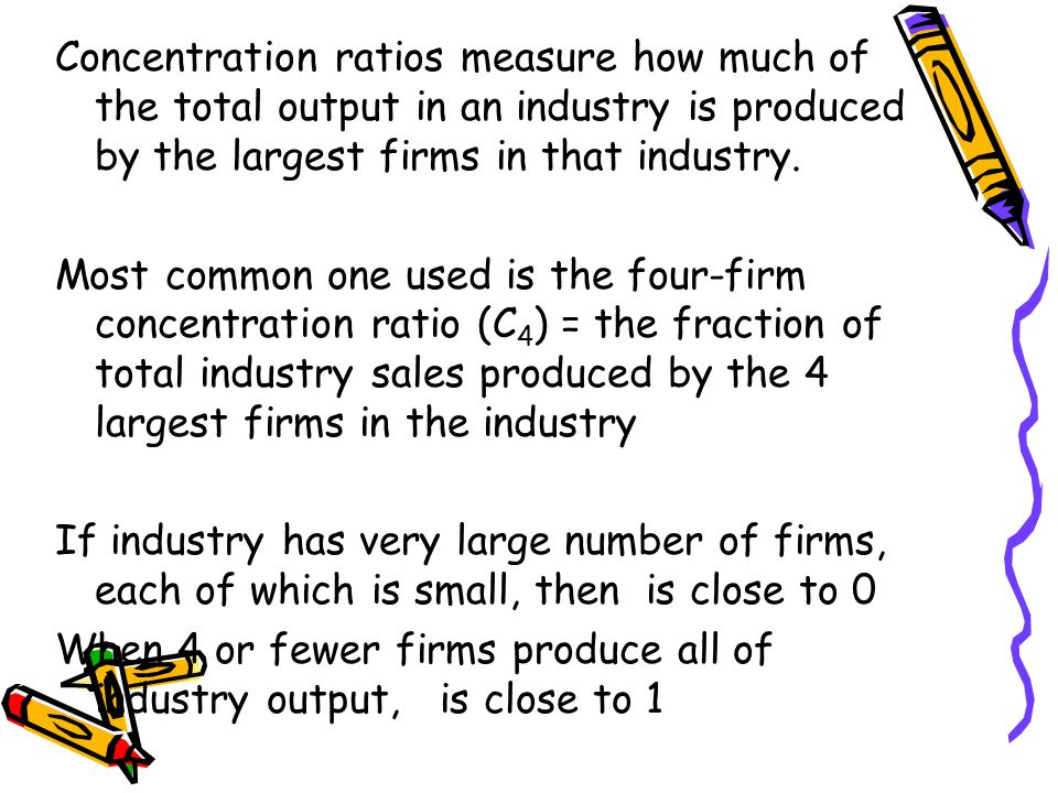 the four firm concentration ratio in telecom sector Montreal economic institute • may 2014 martin masse paul beaudry the state of competition in canada's telecommunications industry – 2014 chapter 4 - liberalizing the transfer of assets: foreign investment and users with a wireline or cable connection), the ookla net index ranks canada.