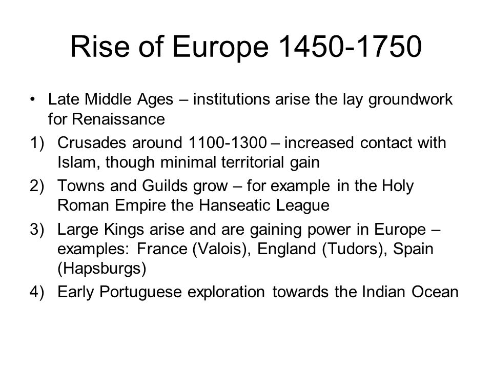 rise of towns in medieval europe The rise of towns  the rise of towns the international history project date: 2001  a second great factor in the passing of the middle ages was the rise of new towns the roman empire had encouraged the building of towns, but the german barbarians refused to live in confinement.