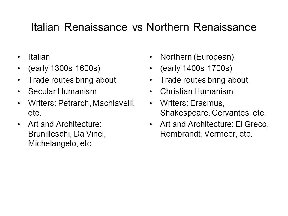northern renaissance as opposed to italian language renaissance essays