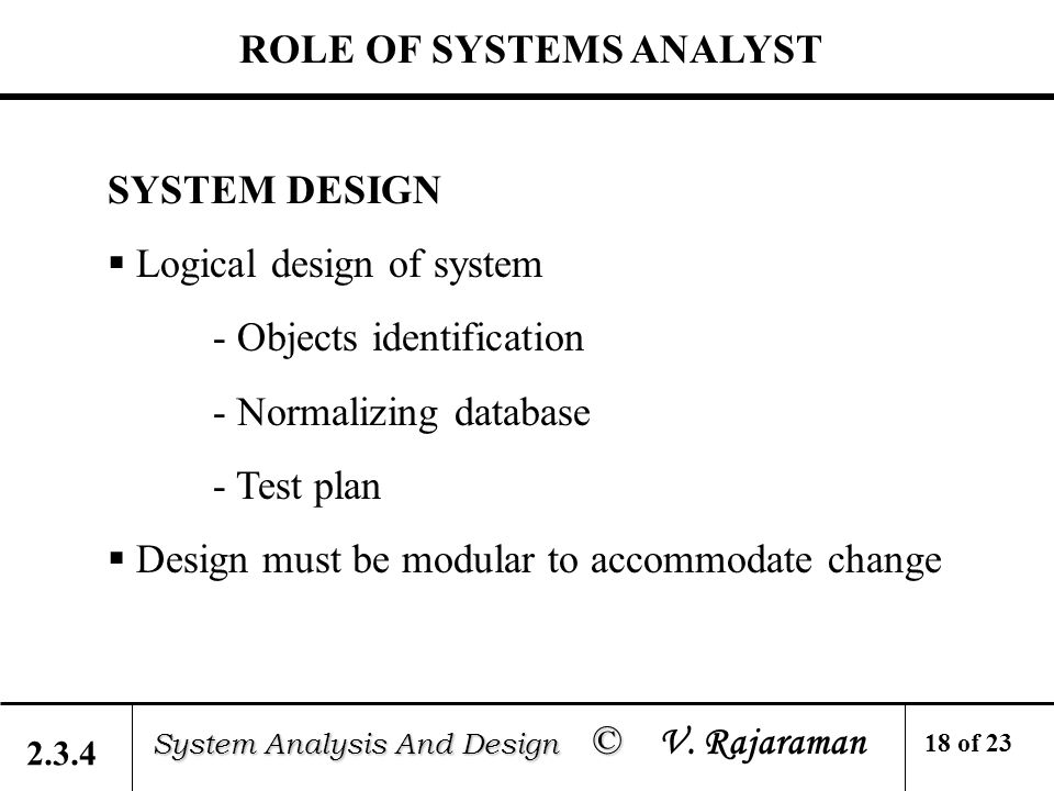 2 system analysis and design