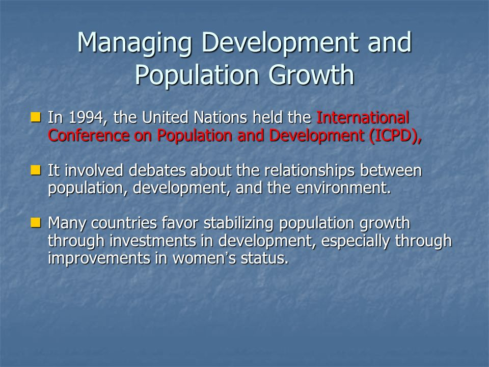 relationship between population growth and international security