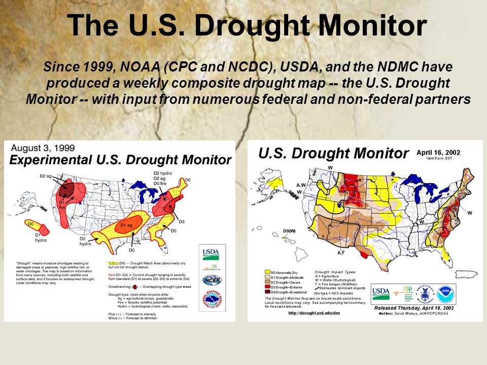 Drought Monitoring Challenges In The Western United States Ppt - Us dought map 2002