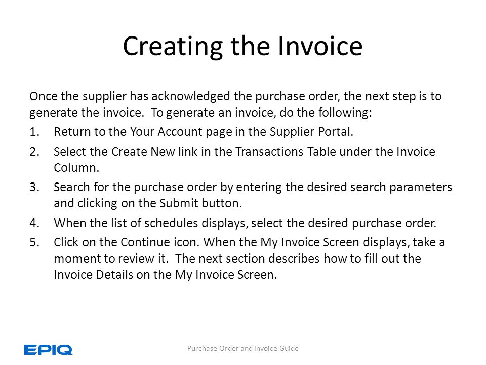 Purchase Order And Invoice Guide Ppt Download - Order invoice