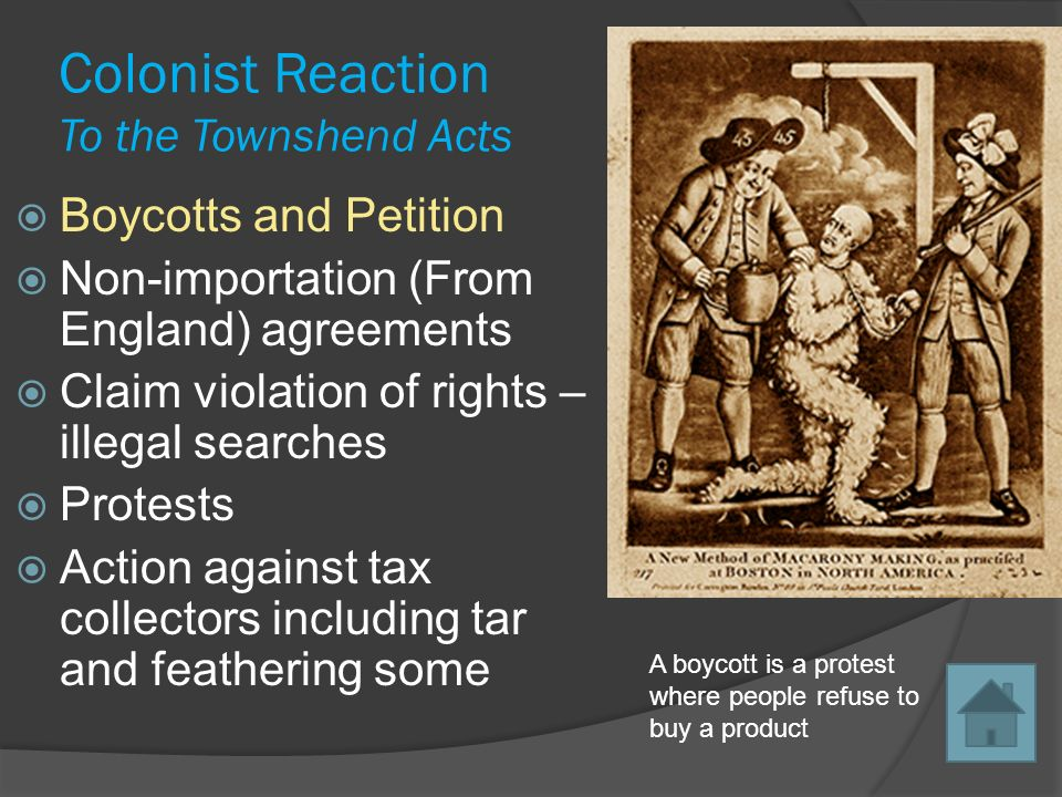 townshend acts essay Making the revolution: america, 1763-1791 primary source collection colonists respond to the townshend acts 1767-1770 a selection from resolutions, news reports, essays, illustrations, poetry & a history.