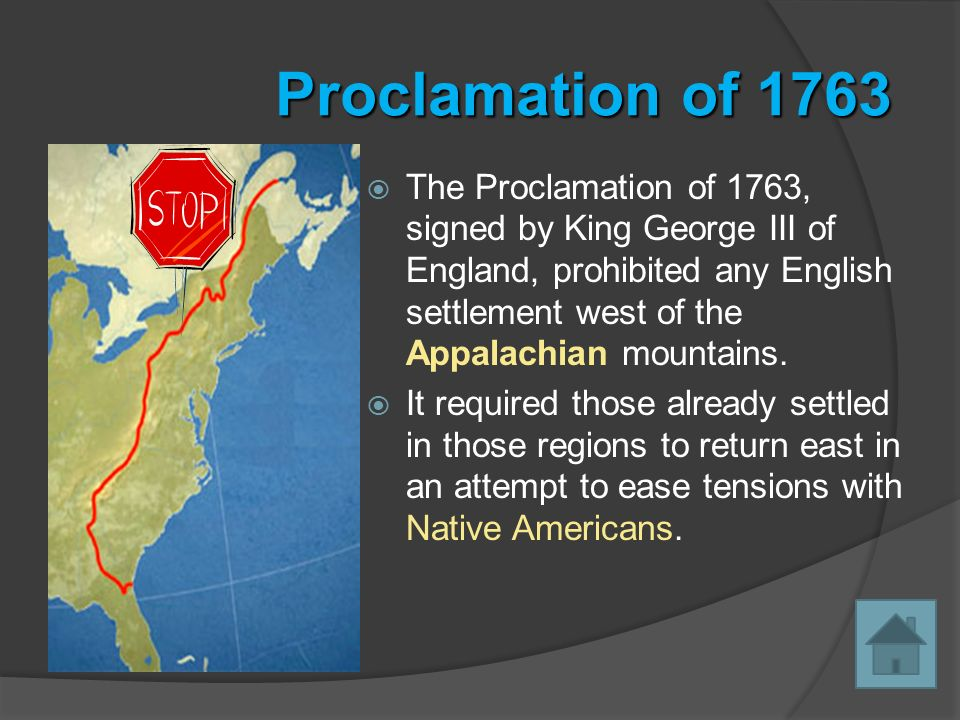 the proclamation of 1763 leads to increased tensions Causes of the american revolution tensions increased with the proclamation explain colonial response to such british actions as the proclamation of 1763.