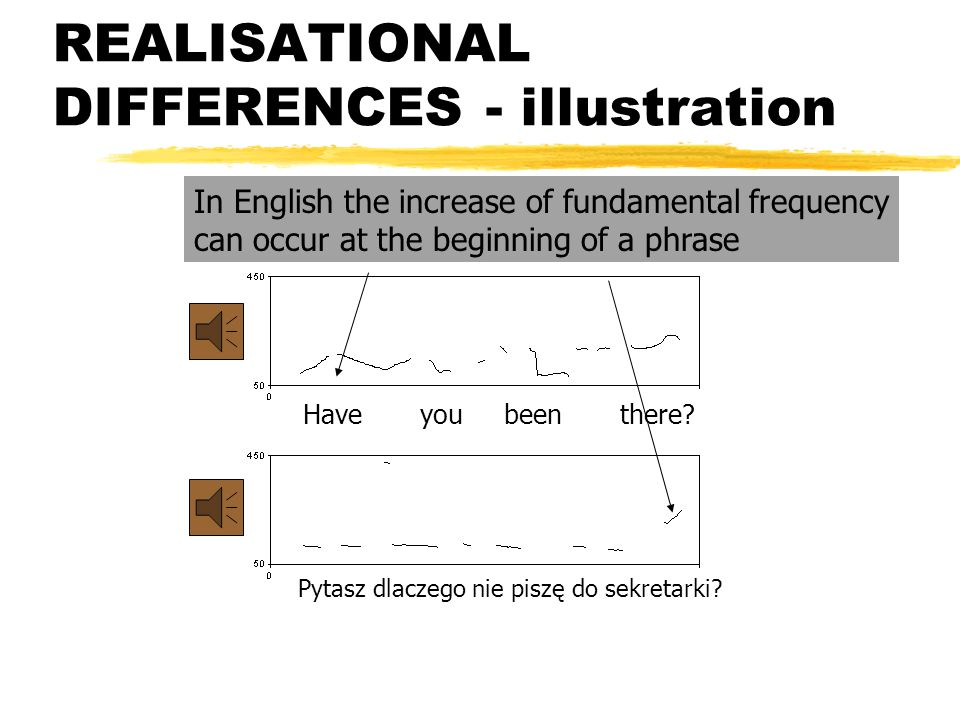 REALISATIONAL DIFFERENCES - illustration