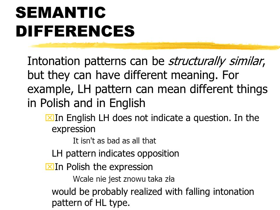 SEMANTIC DIFFERENCES