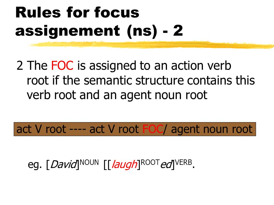 Rules for focus assignement (ns) - 2