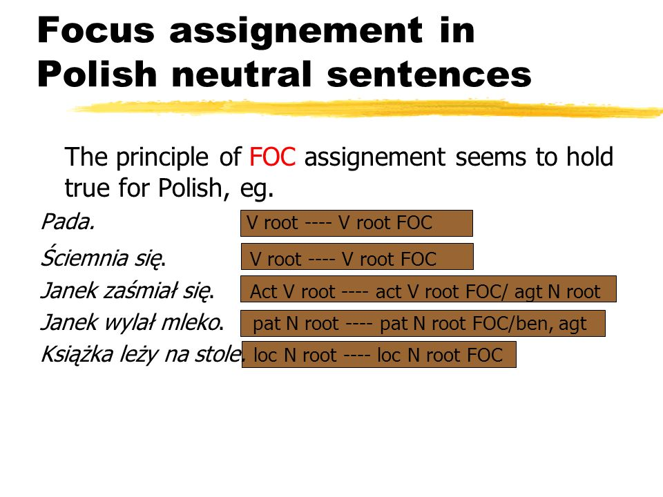 Focus assignement in Polish neutral sentences