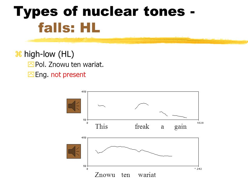 Types of nuclear tones - falls: HL