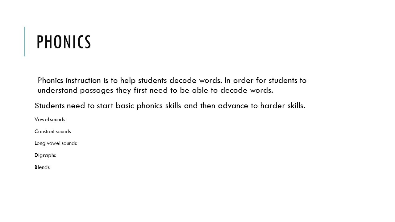 Phonics Instruction For Older Students Coursework Writing Service