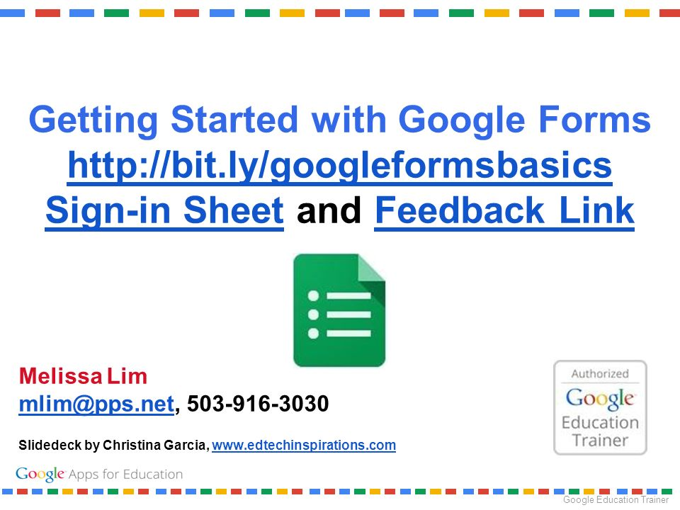 getting started with google forms sign in sheet and feedback link