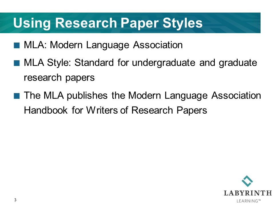 research paper styles