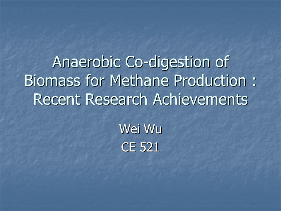 co digestion of biomass for methane production This research sought to optimize anaerobic co-digestion of microalgae biomass harvested biogas production and methane yield over time.