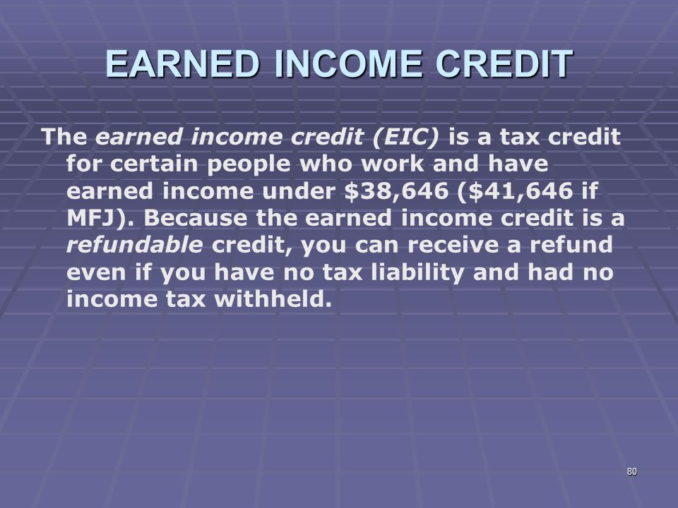 Liberty Tax Service Online Basic Income Tax Course Lesson 7 ppt – Earned Income Credit Eic Worksheet