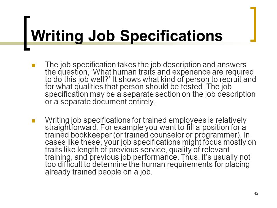 Specifications writing services